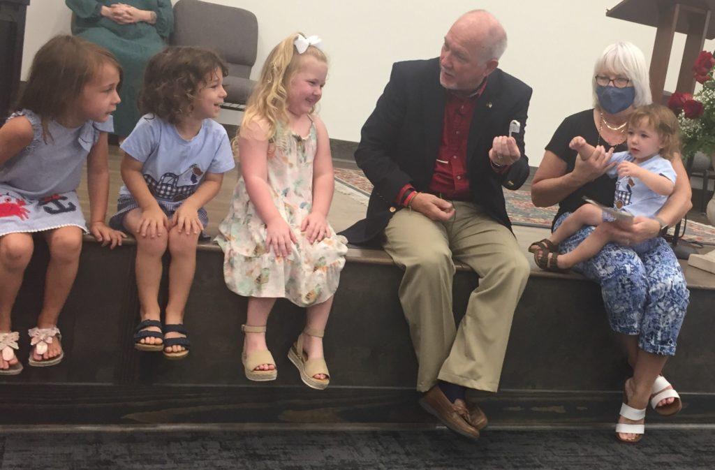 Rev. Chandler Willis leading the Children's Worship